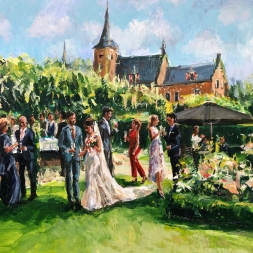 Live Paint borrel, 23 juli 2020, kasteel Maurick, Vught