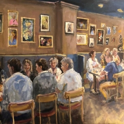 Live event painting Opening restaurant, 3 augustus 2019, Den Haag
