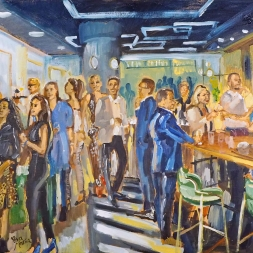 Live Painting Opening restaurant, 12 september 2019, Den Haag