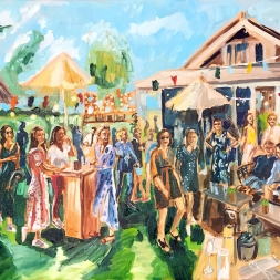Live Paint Walking dinner, 24 augustus 2019, Hazerswoude-dorp